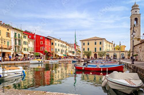 Leinwanddruck Bild Lazise, Lago di Garda, Italy