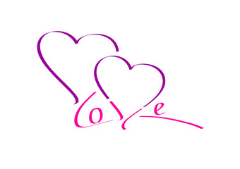 love - zwei herzen - lila