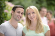 Portrait of a happy heterosexual couple