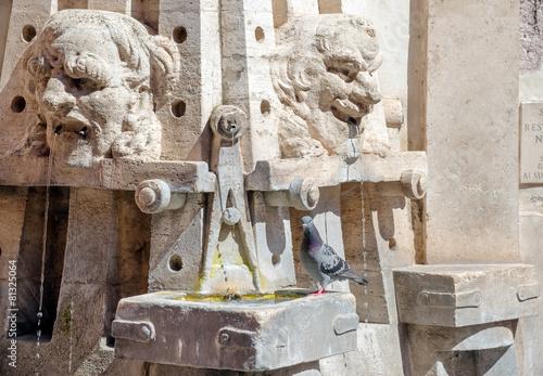 Leinwanddruck Bild Fountain of the arts, Via Margutta, Rome Italy