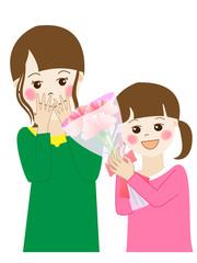 母の日(母親と娘)