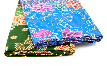 stack of Thai fabric