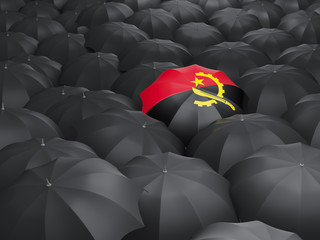 Umbrella with flag of angola