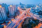 city interchange at nightfall - 81327237