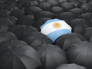 Umbrella with flag of argentina