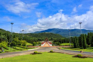 Ho Kham Luang - Royal Flora Ratchaphruek at sunny morning