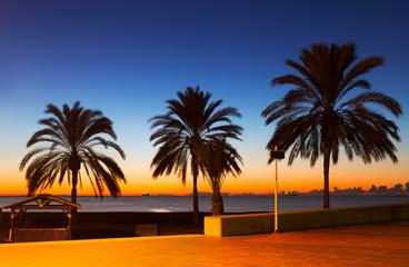 Sunset view of sea beach