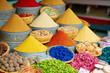 Leinwanddruck Bild - Selection of spices on a Moroccan market