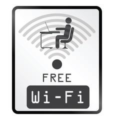 Monochrome free WiFi sign