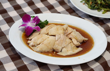 Singapore boiled chicken
