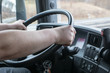 Closeup truck driving - 81329681