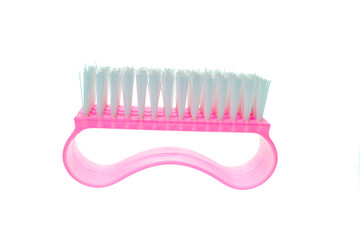 pink clothes brush