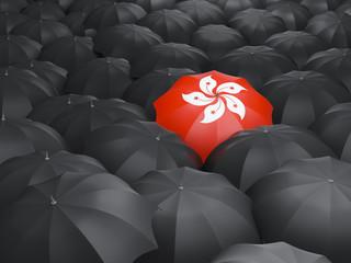 Umbrella with flag of hong kong