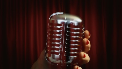 Microphone symbolic theater ghost