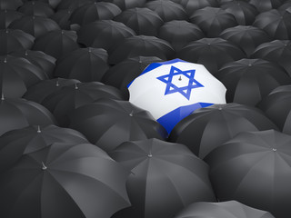 Umbrella with flag of israel