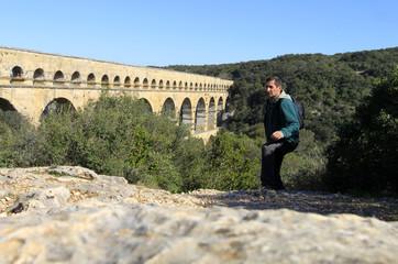 randonnée au pont du Gard