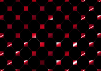 vector net square pattern red  on black color background