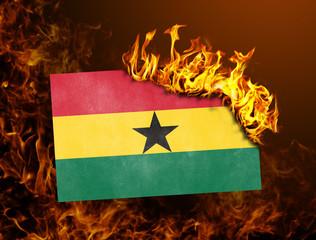 Flag burning - Ghana