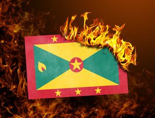 Flag burning - Grenada