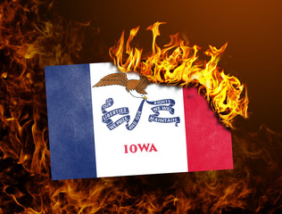 Flag burning - Iowa