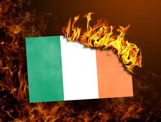 Flag burning - Ivory Coast