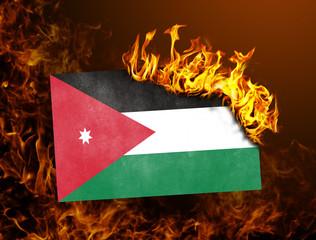 Flag burning - Jordan