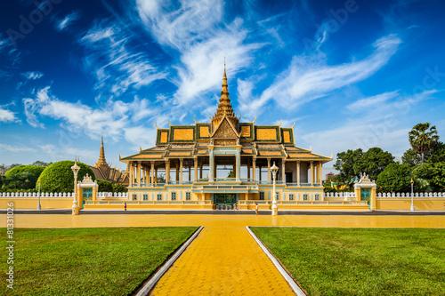Leinwanddruck Bild Phnom Penh Royal Palace complex