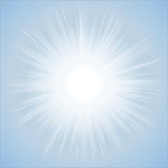 Sun, Blue Sky, Vector, Background, Vibrant