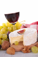 cheese grape and wine