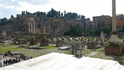 Roman Forum and Palatine. Rome, Italy