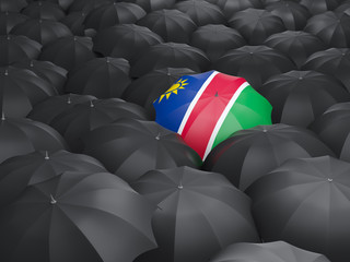 Umbrella with flag of namibia