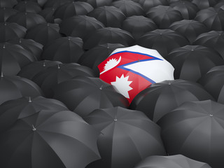 Umbrella with flag of nepal