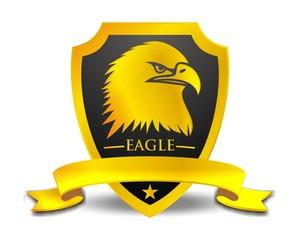 hawk eagle falcon bird gold logo image vector