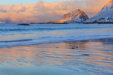 Sunrise at Haukland Beach, Lofoten
