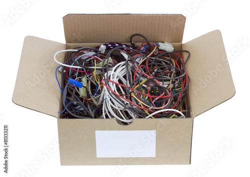 Leinwandbild Motiv Wires is prepared for utilization