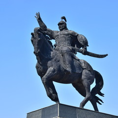 Monument to the 18th-century war hero BOGENBAY BATYR in Astana