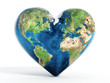 canvas print picture - Heart shaped earth