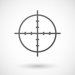 Grey sight icon
