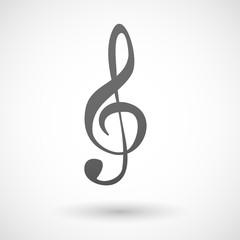Grey g clef icon