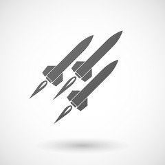 Grey missile icon