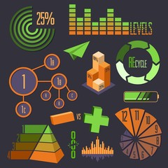 Set of Vector Business Infographic Elements