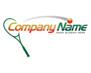 Squash sport racket logo image vector