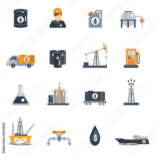 Oil Industry Flat Icon - 81336635