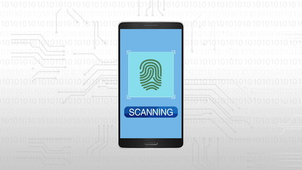 Authentication through Fingprint, Mobile security