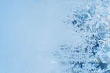 Winter background, frost on window - 81337285