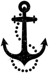 grunge anchor symbol