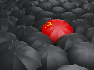 Umbrella with flag of ussr