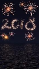 Vuurwerk boven zee 2018