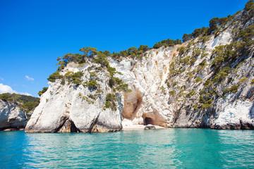 White rocks in Gargano National park, Italy