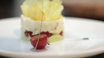 Feta And Cherry Tomato Dish, close up